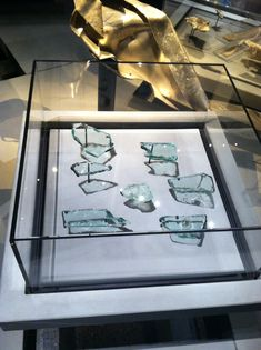 World Trade Center window glass recovered from the site after September 11, 2001.