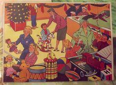 Ancienne Carte Expo Affiche Scolaire Édition Rossignol Le Magasin de Jouet dans les années 1950 Voiture,Toupie Quilles Ours Teddies Trains de la boutique nowfrenchvintage sur Etsy