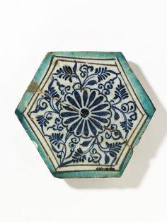 Tile, Damascus, Syria, made ca. 1420-1450. V&A collection.