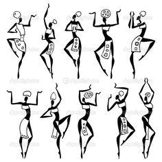 Set Of African Animals Made Of Ethnic Textures Ilustraciones vectoriales en stock: 78627868 : Shutterstock Arte Tribal, Tribal Art, African Art Paintings, Indian Folk Art, Cherokee Indian Art, Africa Art, Woman Silhouette, Dance Silhouette, African Masks