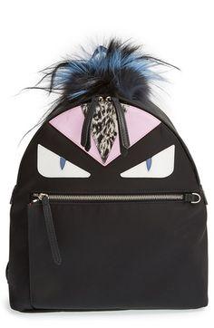 Fendi 'Monster' Nylon Backpack available at #Nordstrom