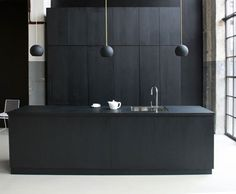 This is the black kitchen to go with my black house. Maybe not the best idea for gloomy Seattle.