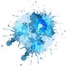 Blue grunge splash background Vecteur gratuit