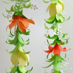 Tropical Flower Garland & Lei Templates (SVG, DXF) Flower Garland DIY Templates for Silhouette, Cricut Explore or Hand Cutting Wine Bottle Crafts, Mason Jar Crafts, Mason Jar Diy, Tropical Flowers, Diy Flowers, Tropical Leaves, Flower Crafts, Paper Flower Garlands, Paper Flowers