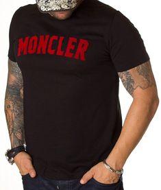 Moncler Tricou Short Sleeve - Negru   Tricouri cu guler rotund   Tricouri   Brande Moncler, Maserati, Sleeves, Model, Mens Tops, T Shirt, Fashion, Supreme T Shirt, Moda