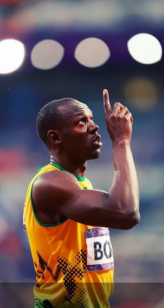 Usain Bolt  He inspires me so much.