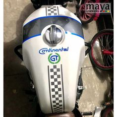 Racing stripes stickers for RE continental GT in custom colors Enfield Bike, Enfield Classic, Racing Stripes, Royal Enfield, Custom Stickers, Colors, Design, Personalized Stickers