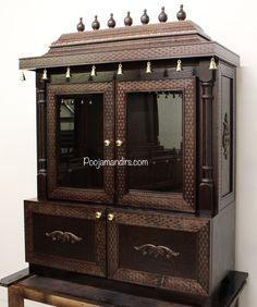 Wooden Temple For Home, Temple Design For Home, Indian Home Design, Home Temple, Indian Home Interior, Pooja Room Door Design, Ceiling Design Living Room, Wood Bed Design, Gate Design