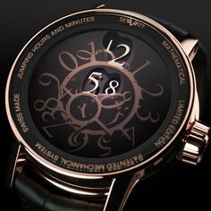 The 4th DeWitt watch, Academia Mathematical's aesthetic design and mechanical structure reflects DeWitt's uniquely inventive approach to watchmaking. An authentic concept rather than just a watch.