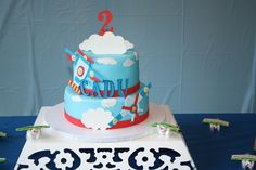 Cake at a Airplane Party #airplane #party