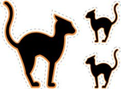 print out spooky bats black cats and other halloween decorations perfect for classroom bulletin