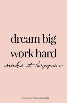 Work quotes goals goals mini life update real talk a classy fashionista dream big work hard make it happen motivational quote inspiring training goals Motivacional Quotes, Best Quotes, Goals Quotes Motivational, Goal Quotes, Good Things Quotes, Music Quotes, Motivating Quotes, Awesome Quotes, Good Job Quotes