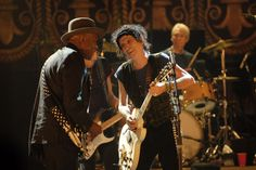 Keith Richards with Buddy Guy
