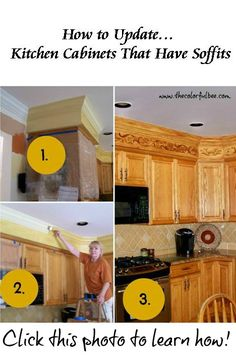 Do Something With The Soffit Above The Cabinets.