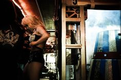 Britney Spears before going on stage, Circus Tour 2009, photo by Jeremy Cowart