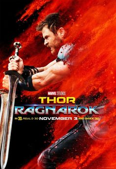 Thor poster for Ragnarok! One my favorite MCU posters ever.