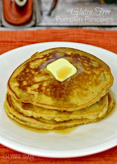 These Gluten-Free Pumpkin Pancakes just shout FALL, and they are so easy to make, thanks to @krusteaz gluten-free buttermilk pancake mix! GET THE RECIPE: http://www.jolynneshane.com/gluten-free-pumpkin-pancakes-2.html