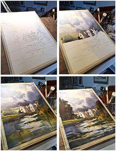 Sky over Wakehurst | thomas w schaller: fine art in watercolor