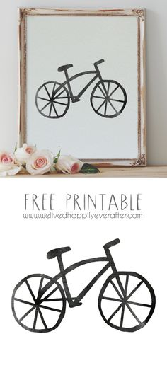 Bike Printable (We Lived Happily Ever After)                                                                                                                                                      More