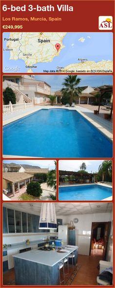 6-bed 3-bath Villa in Los Ramos, Murcia, Spain ►€249,995 #PropertyForSaleInSpain