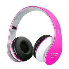 Deals week  Bluetooth Headphones Wireless/Wired Foldable Headset With Calling Microphone for Music Streaming For Smart Phones Tablet PC MP3 Bluetooth Devices Pink Best Selling