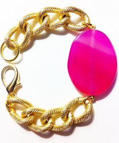 Sophia Magenta Quartz Bracelet. $25.00, via Etsy.