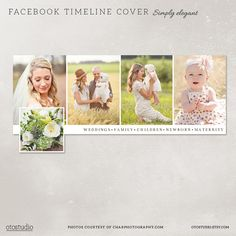 Facebook timeline cover template photo collage photos