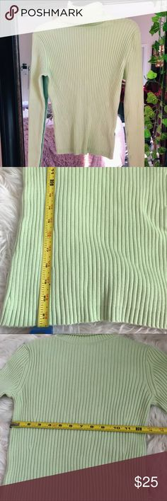 GAP minty green turtle neck GAP mint green tight fit turtle neck, great thick material and stretches! Measurements provided. GAP Tops