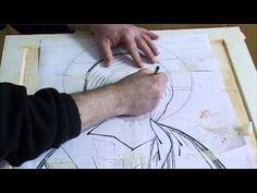 3 3 Incisión de los bordes, inscripciones y aureolas - YouTube Decoupage, Orthodox Icons, Painting Videos, Religious Art, Diy And Crafts, Christian, Youtube, Art Conservation, Hands
