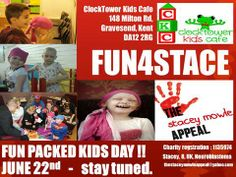 Everyone in Kent, keep your eyes peeled for more news on this. Funs4stace - helping to raise funds for Stacey