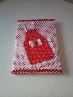 caderno decorado com tecido