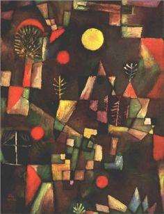 Paul Klee, Full moon, 1919, Expressionism, Stangel Gallery