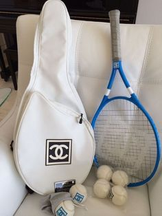 asthetiques: Chanel Tennis Bag, Racket, And Balls. Tennis Outfits, Tennis Clothes, Nike Clothes, Sports Challenge, Mode Bcbg, Private School Girl, Le Tennis, Tennis Bags, Shoes Tennis