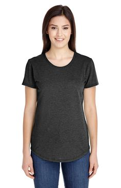 Anvil 6750L Ladies' Triblend Scoop Neck T-Shirt - JiffyShirts.com