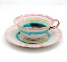 Earthenware cup and saucer  Else Dörr 1924-'27