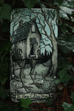 Baba Yaga's House ceramic plate by HDLibra