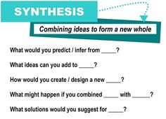 Synthesis [critical thinking skills]