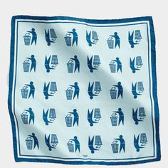 Keep Britain Tidy Silk Scarf Vintage Scarf, Liberty Of London, Anya Hindmarch, Silk Scarves, Fall Winter, Autumn, Britain, Light Blue, Bones