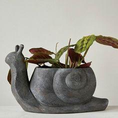 Snail Statue Planter