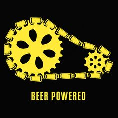Beer powered mens craft beer t-shirt by Craft Brewed Clothing - For some reason beer and bikes seem to go together like…well, beer and brats or beer and footbal Brew Haha, Beer Quotes, Beer Memes, Beer Humor, Drinking Quotes, Cycling Art, Cycling Quotes, Beer Shirts, How To Make Beer