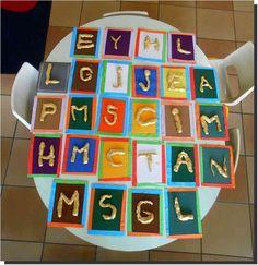 Les prénoms en pâte-à-sel , suite (TPS et PS) Petite Section, Worksheets, Art For Kids, Literacy, Education, Cool Stuff, Holiday Decor, Cycle 1, Oeuvres