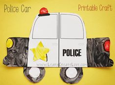 Printable Police Car Craft | LearnCreateLove.com