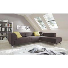 WOHNLANDSCHAFT in Dunkelbraun Textil - Polstermöbel - Polstermöbel, Sofas & Sessel - Wohn- & Esszimmer - Produkte