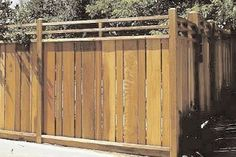 Vertical fence design