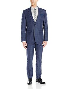 """This Perry Ellis slim fit suit is made with stretch for the contemporary on-the-go man       Famous Words of Inspiration...""""In essence, if we want to direct our lives, we must take control of our consistent actions. It's not what we do once in a while that shapes our lives,...  More details at https://jackets-lovers.bestselleroutlets.com/mens-jackets-coats/suits-sport-coats/suits/product-review-for-perry-ellis-mens-two-button-slim-fit-windowpane-check-s"""