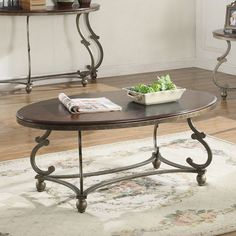out of stock Coaster Furniture Oval Coffee Table - Antique Pewter | from hayneedle.com