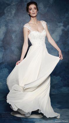 "Amanda Wyatt 2017 Wedding Dresses ""She Walks with Beauty"" Bridal Collection (Violette)  #bridal #wedding #weddingdress #weddinggown #bridalgown  #dreamgown #dreamdress #engaged #inspiration #bridalinspiration #weddinginspiration"