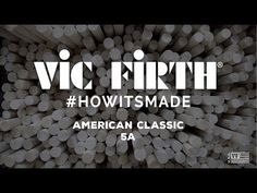 We've seen how cymbals are made, now find out how the drumsticks that are used to play them are born. Vic Firth shares footage from inside their factory, Learn Drums, Match One, Videos, Music, Youtube, Musica, Musik, Muziek, Music Activities