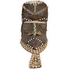 20th Century or Earlier Congo Tribal Helmet Mask | From a unique collection of antique and modern tribal art at https://www.1stdibs.com/furniture/folk-art/tribal-art/