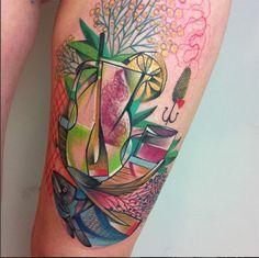 Peter Aurisch, Berlim. Tatuagens Cubistas; Mais